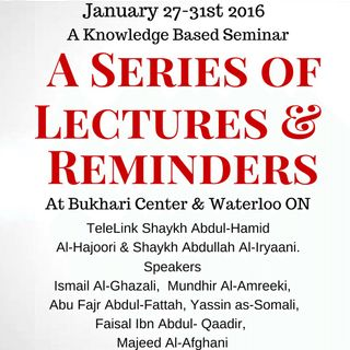Path Of Salaf Seminar, January 2016