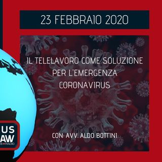 BREAKING NEWS – IL TELELAVORO COME SOLUZIONE PER L'EMERGENZA CORONAVIRUS – AVV. ALDO BOTTINI