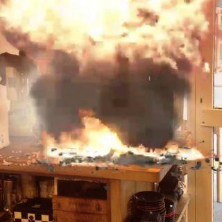 A burning blast