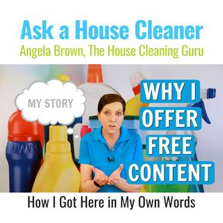 Why I Offer Free Content to House Cleaners - My Story