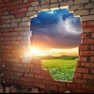 Layers Of Broken Brick