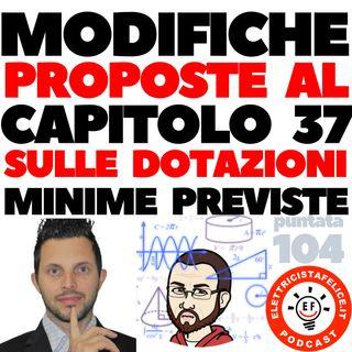 104 Quali saranno le modifiche al Capitolo 37 sulle dotazioni minime previste, con Alessio Piamonti