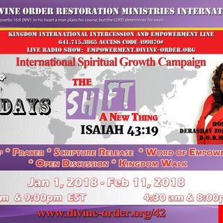Shift My Sight - A New Thing- Apostle Derashay Zorn