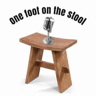 One foot on the stool