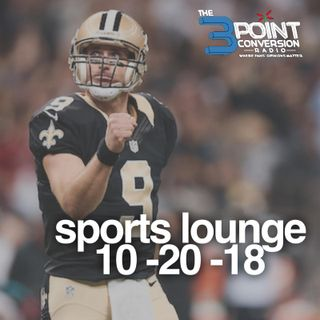 The 3cPoint Conversion Sports Lounge- College Football Playoffs Needs Tweaking, MLB Game 7, NFL (Brees Legacy),  NBA's Surprising Teams