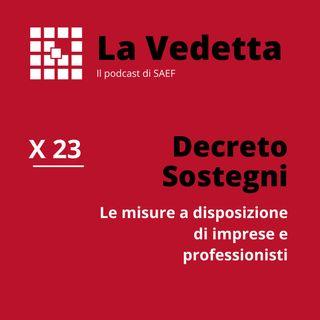 Decreto Sostegni:  le misure a sostegno di imprese e professionisti.