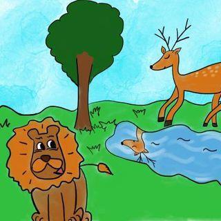 Il cervo e il leone 🦌 🐱