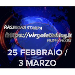 RASSEGNA STAMPA 25 febbraio/3 marzo | virgoletteblog.it