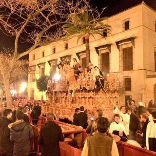 Sábado de Pasión 2016. Recogida Hermandad Sagrada Mortaja.