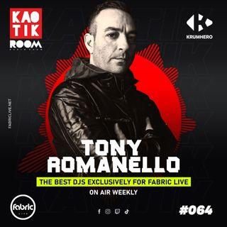 TONY ROMANELLO (From Krumhero) - KAOTIK ROOM EP. 064