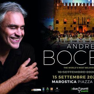 Andrea Bocelli in piazza degli Scacchi: slitta a fine estate 2021 ma il concerto bis si farà