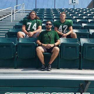 Interviews with Strongsville High School HFC L. Cirino, Sr OT Ryan Keating, and Sr LB/RB Tommy Zacharyasz