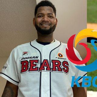 Raúl Alcántara, pitcher de los Doosan Bears en la KBO