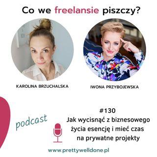 PWD#130 –Jak wycisnąć z biznesowego życia esencję i mieć czas na prywatne projekty – wywiad z Iwoną Przybojewską