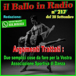 Il Ballo 217 in Radio-Tv di Tony Mantineo sintesi