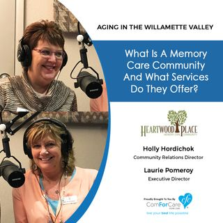 4/3/18: Holly Hordichok and Laurie Pomeroy with Heartwood Place Memory Care |