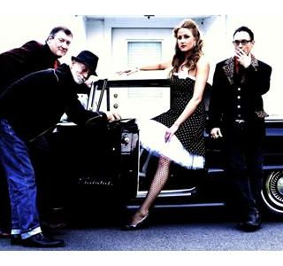 Rockabilly boys-and one hot girl- Cha Cha's Cadillac