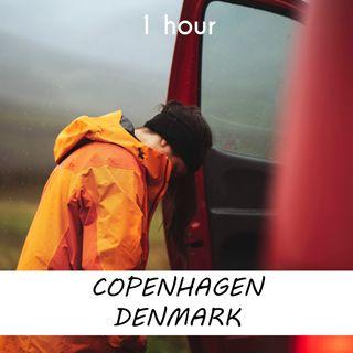 Copenhagen, Denmark | 1 hour RAIN Sound Podcast | White Noise | ASMR sounds for deep Sleep | Relax | Meditation | Colicky