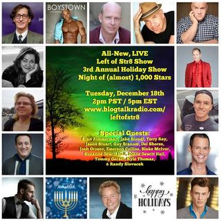 Left of  Str8 Show:  3rd Annual Holiday Show, Night of (almost) 1000 Stars