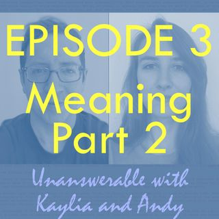 Ep 3 - What makes life meaningful? (Part 2)