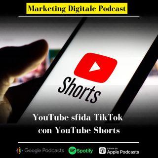 YouTube sfida TikTok con Youtube shorts