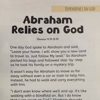 Episode 5 ABRAHAM RELIES ON GOD