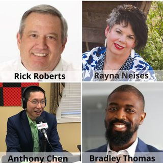 Rick Roberts, Voices Choices & Solutions, Rayna Neises, A Season of Caring, and Bradley Thomas, Inspire Everyday Fitness (Family Business Ra