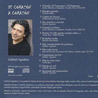 Programa Voces: De corazón a corazón, con el chileno Gabriel Aguilera (Febrero de 2011)