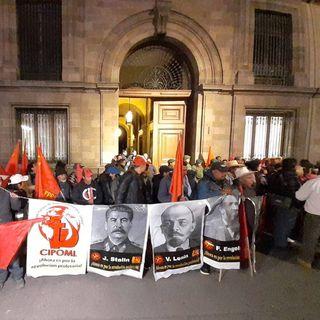 Organizaciones campesinas bloquean entradas en Palacio Nacional
