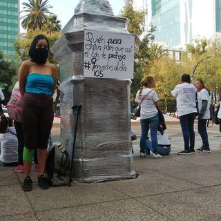 """Inicia en CDMX marcha """"Ni una menos"""""""