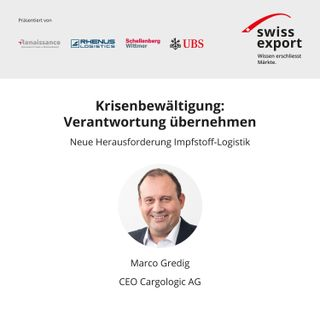 Marco Gredig | Managing Director Cargologic AG