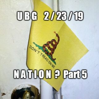 The Unpleasant Blind Guy : 2/23/19 - Nation?  Part 5