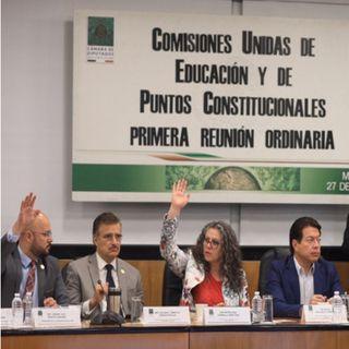 Aprueban comisiones dictámen de Reforma Educativa