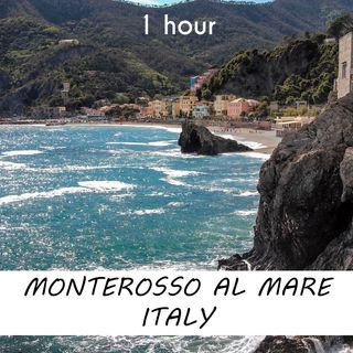 Monterosso Al Mare, Italy | 1 hour OCEAN WAVES Sound Podcast | White Noise | ASMR sounds for deep Sleep | Relax | Meditation | Colicky