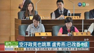 12:58 9綠議員開炮 要求盧秀燕離開議事堂 ( 2019-06-14 )