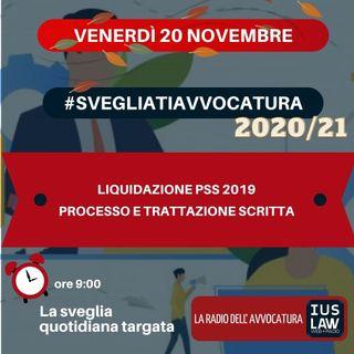 LIQUIDAZIONE PSS 2019 – PROCESSO E TRATTAZIONE SCRITTA – #SVEGLIATIAVVOCATURA