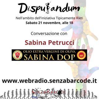 Consorzio Sabina DOP, con Sabina Petrucci