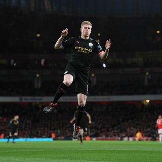 City blitz Arsenal at The Emirates and Everton hold Man Utd