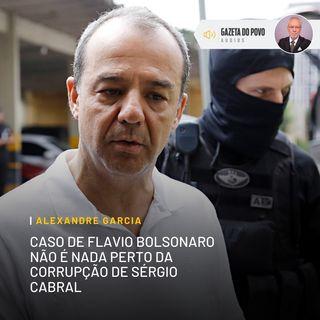 Caso de Flávio Bolsonaro não é nada perto da corrupção de Sérgio Cabral