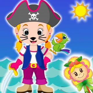 33. La pirata Caradegata y el loro Isidoro.  Cuentos infantiles de Hada de Fresa para que los niños aprendan que robar no está bien