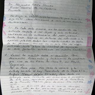 Rosario Robles envía carta a Fiscal General