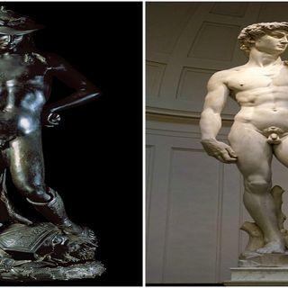 David di Donatello e David di Michelangelo somiglianze e differenze