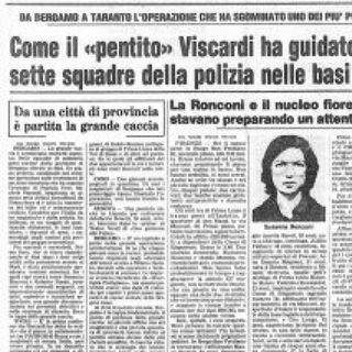 Prima Linea. Michele Viscardi arrestato a Sorrento (1980)