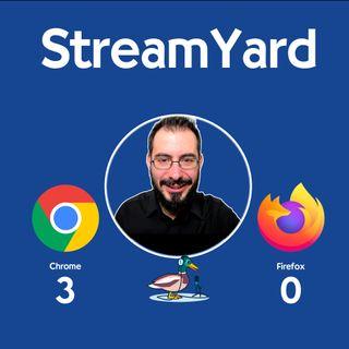 StreamYard: usa Chrome, non Firefox!