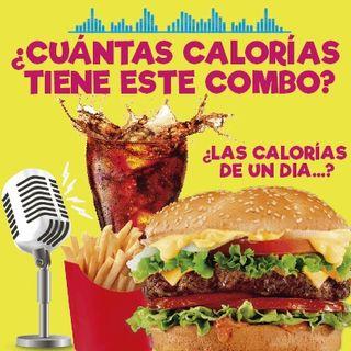 Cuantas calorías tiene un combo ...? Hamburguesa, Papas, papas y cola