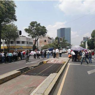 Bloquean avenida Chapultepec
