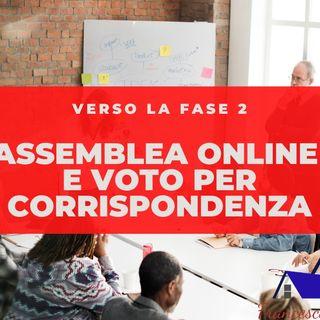 Assemblee Online e voto per corrispondenza