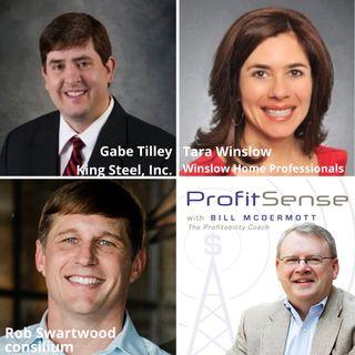 Gabe Tilley, King Steel, Inc., Tara Winslow, Winslow Home Professionals, and Rob Swartwood, consilium (ProfitSense with Bill McDermott, Epis