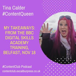 MY TAKEAWAYS: From The BBC's Digital Skills Training, Belfast Nov 18 #DigiCities