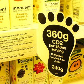 L'etichetta carbon footprint, l'avete mai vista sui proditti alimentari?